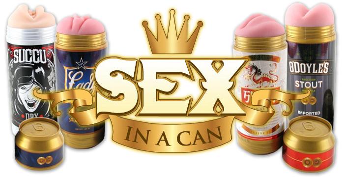 Уникальная серия мастурбаторов Fleshlight Sex in a Can (Секс в Баночке)